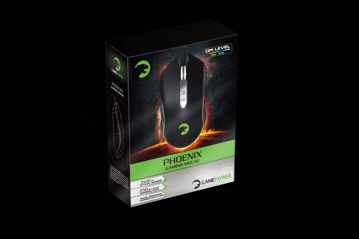 Gamepower Phoenix Oyuncu Optik Mouse Usb- Siyah