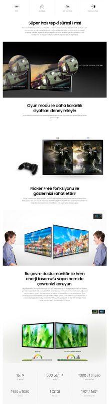 "Samsung LS27E330HZX/UF 27"" 1ms (Analog+HDMI) LED Monitör"