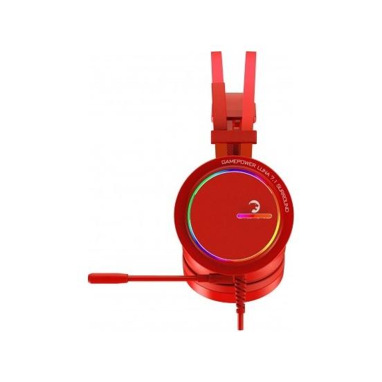 Gamepower Luna RGB 7.1 PRO Oyuncu Kulaklığı Kırmızı